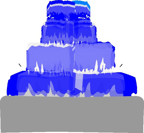 Water clipart fountain. Blue clip art at