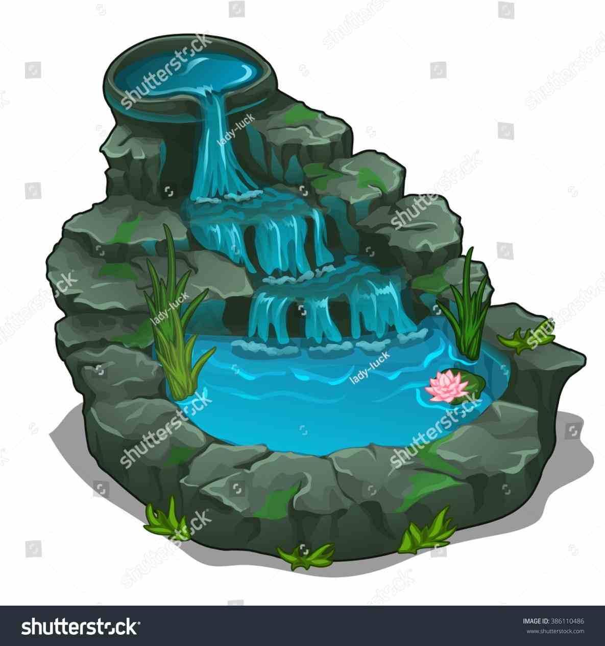 Fountain clipart water pool. Garden feature ideas