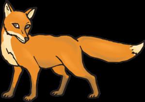Fox clipart. Shy clip art at