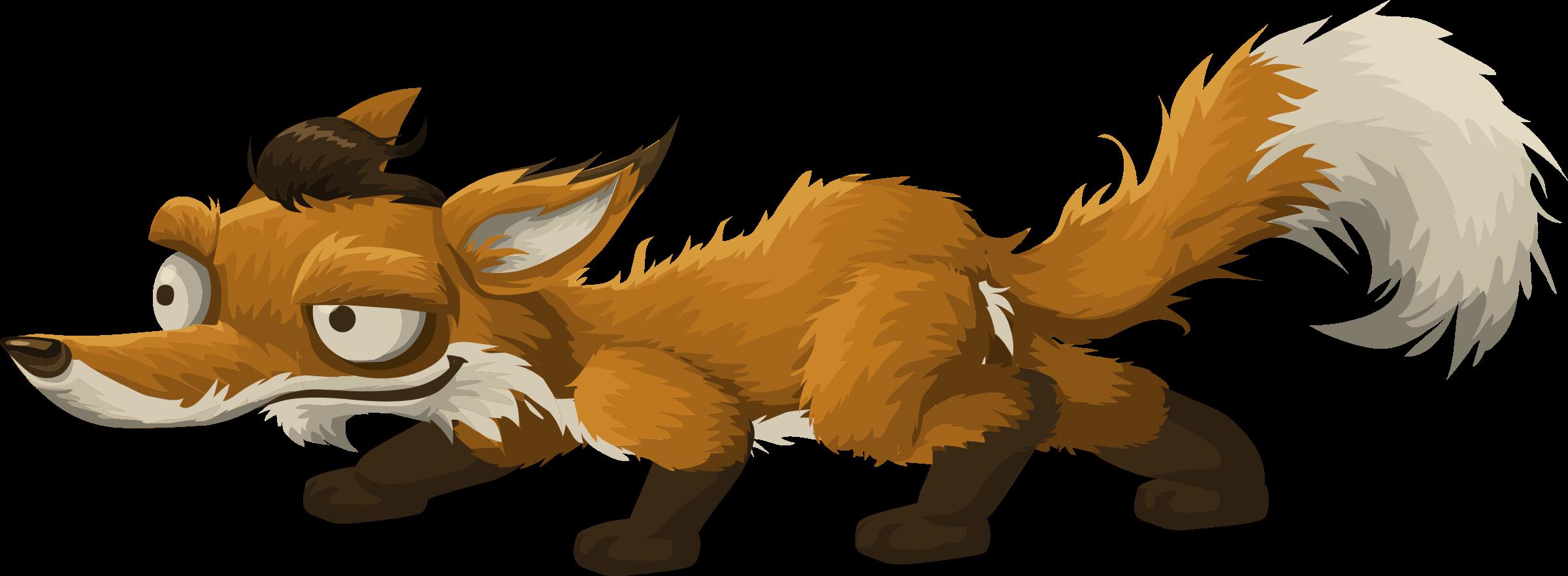 Fox clipart bat eared fox. Png