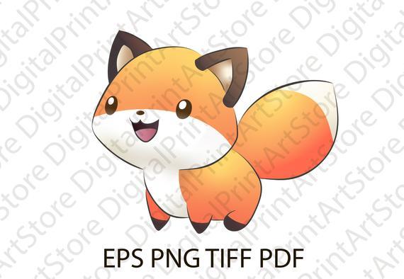 Cute jpg png tiff. Fox clipart beast
