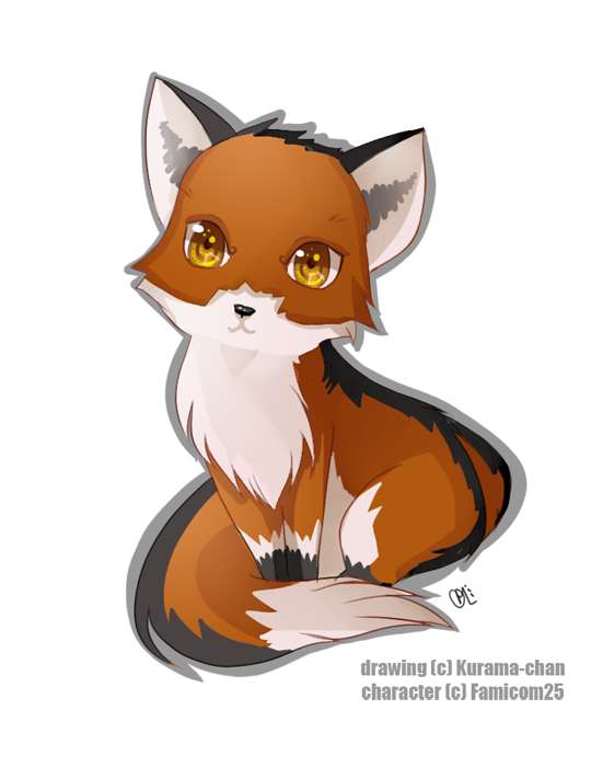 collection of drawing. Fox clipart chibi