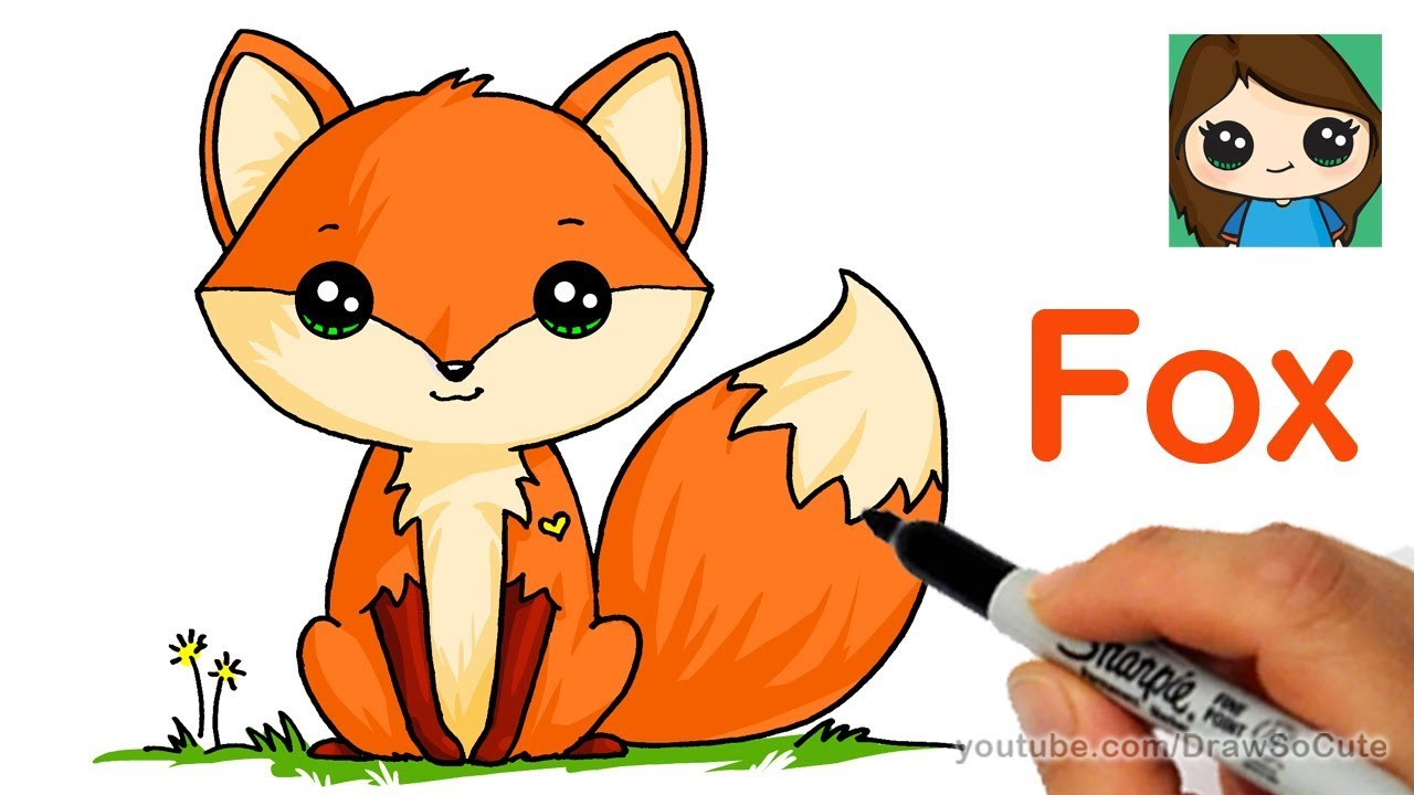 How to draw a. Fox clipart easy