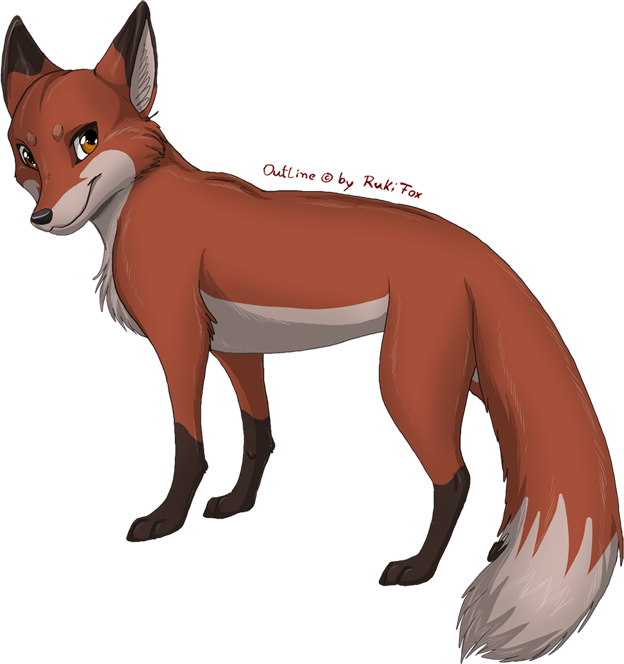 Male by rukifox deviantart. Fox clipart easy