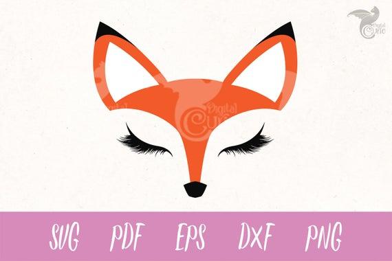 Fox clipart face. Svg eyelashes red cricut