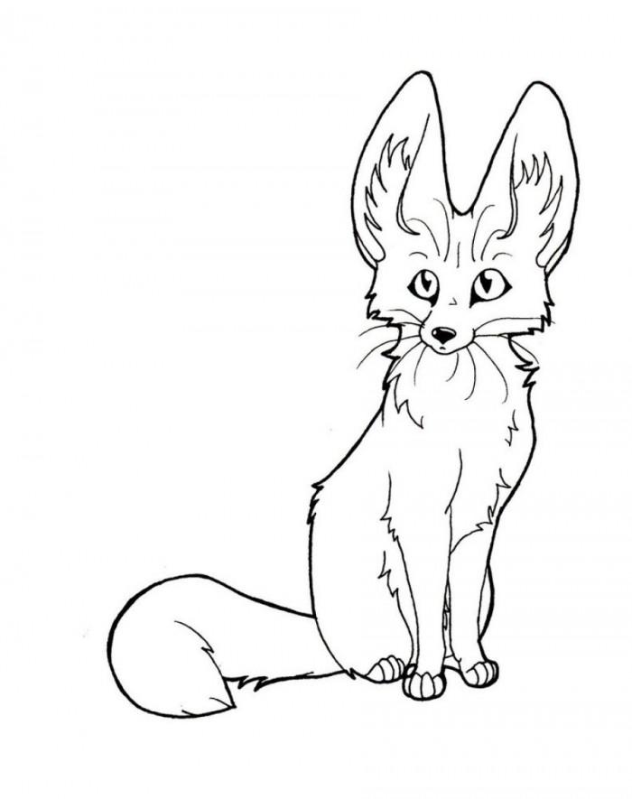 Fox clipart fennec fox. Black and white clipartfest