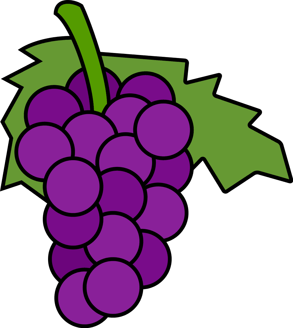 grape clipart violet