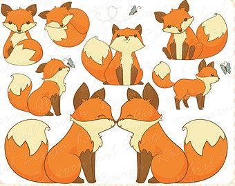 Friendly clip art and. Fox clipart illustration
