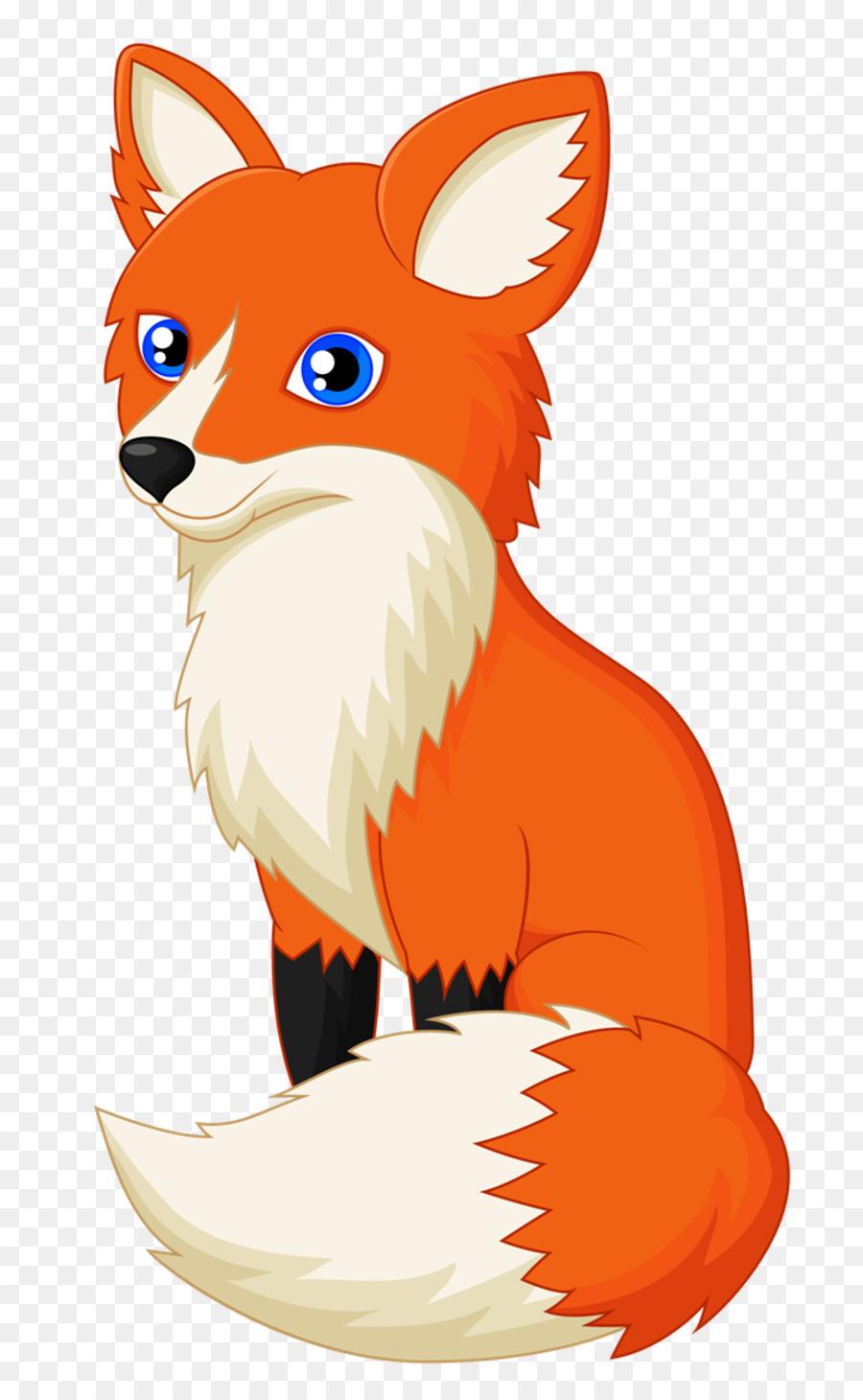 Fox clipart illustration. Cartoon orange transparent