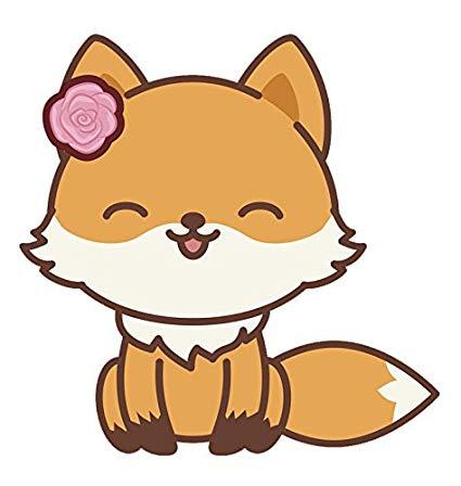 Girly clipart kawaii. Adorable fox emoji cartoon