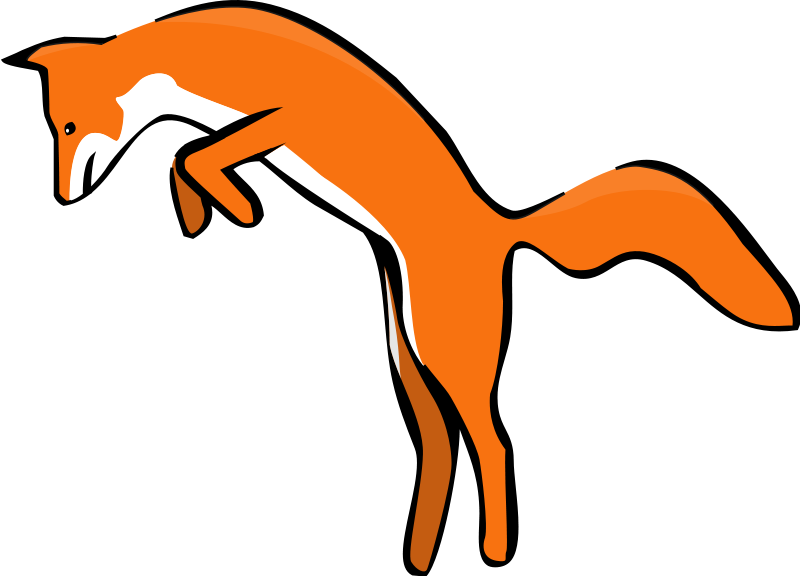 Fox clipart realistic. Share leaping red with
