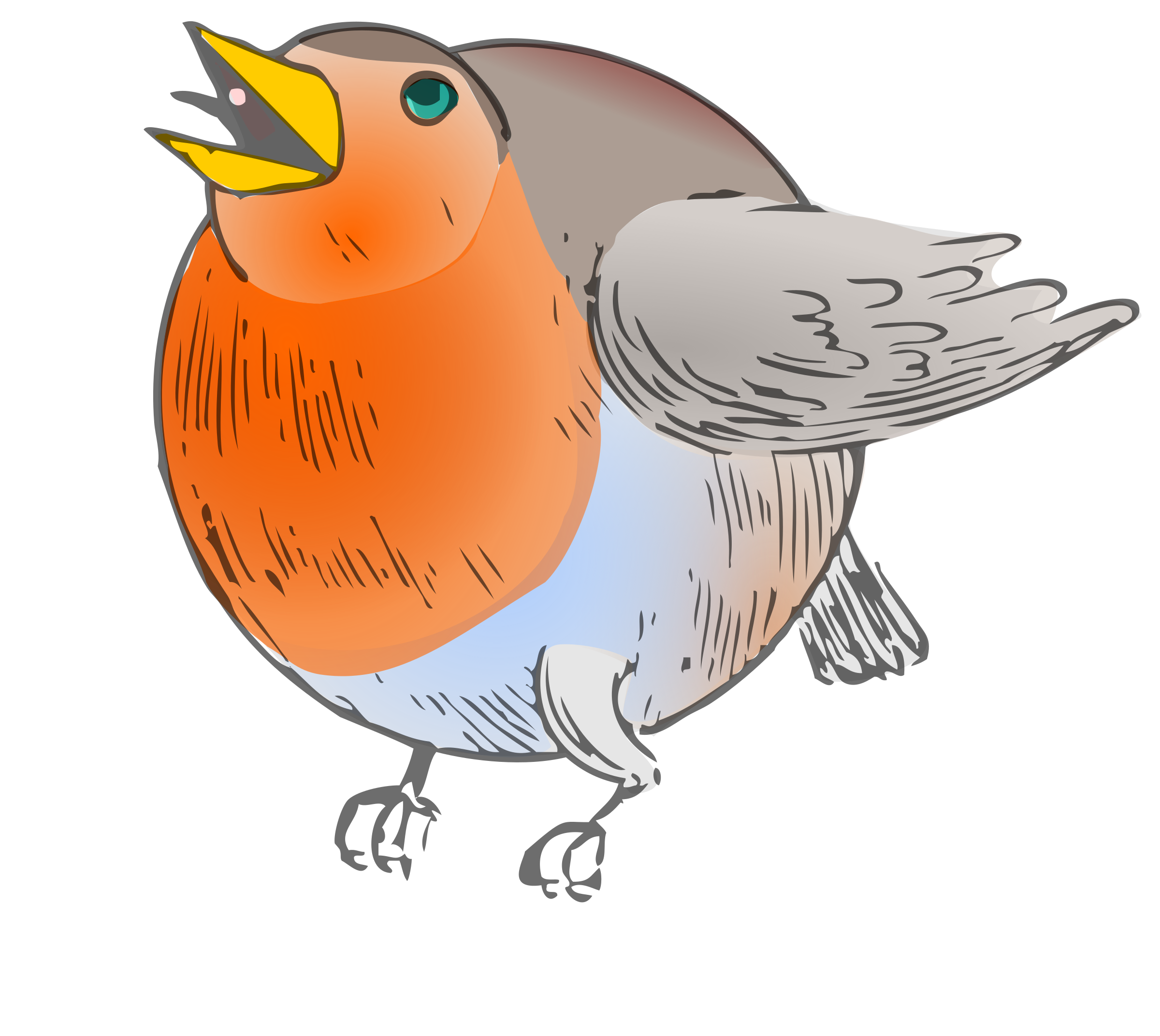 Round robin colored icons. Tall clipart rebuke