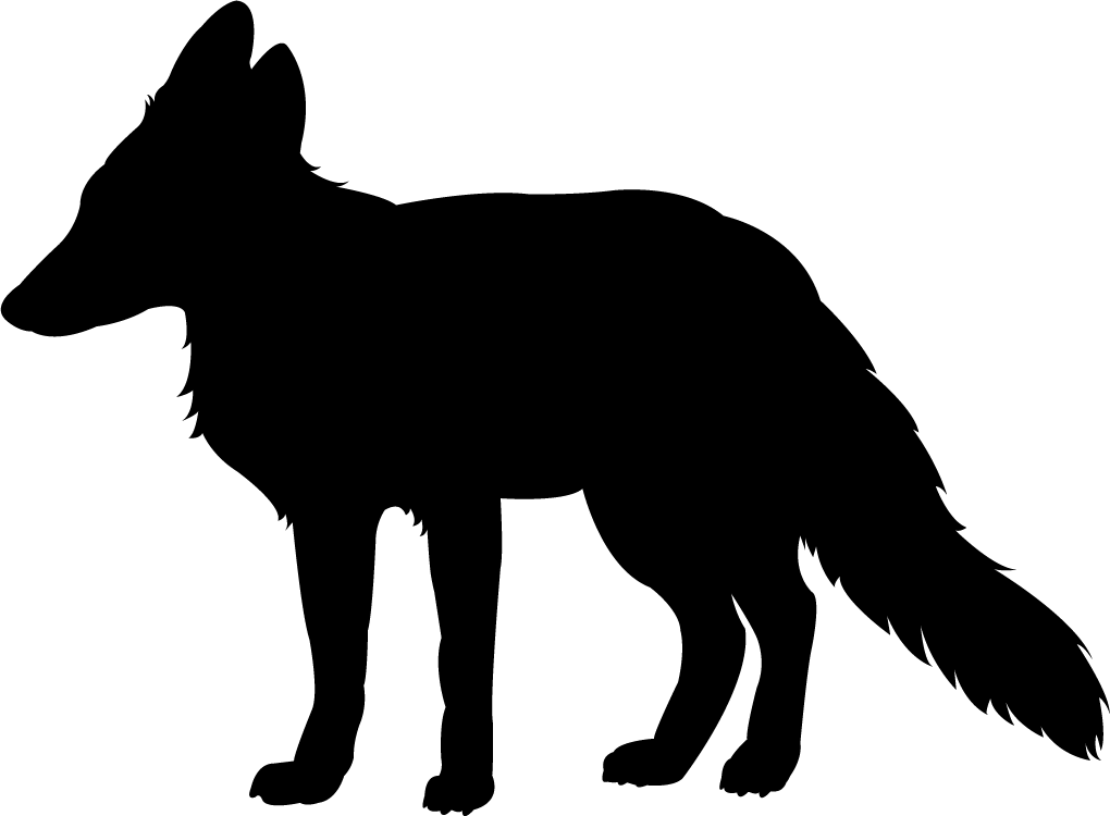 Red at getdrawings com. Silhouette clipart fox