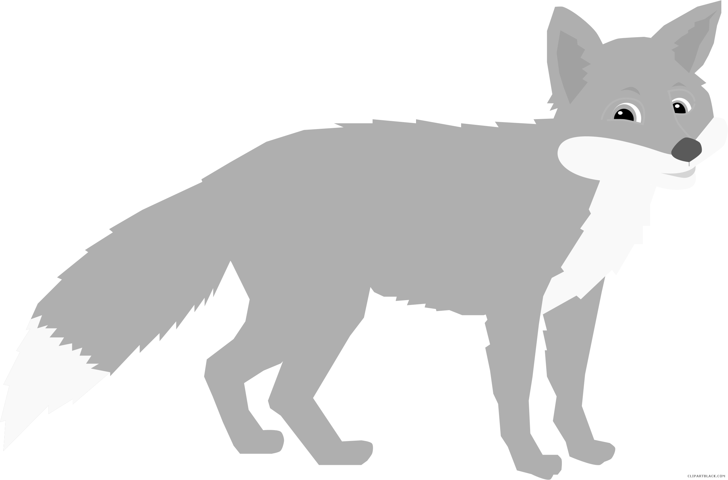 Fox clipart standing. Page of clipartblack com