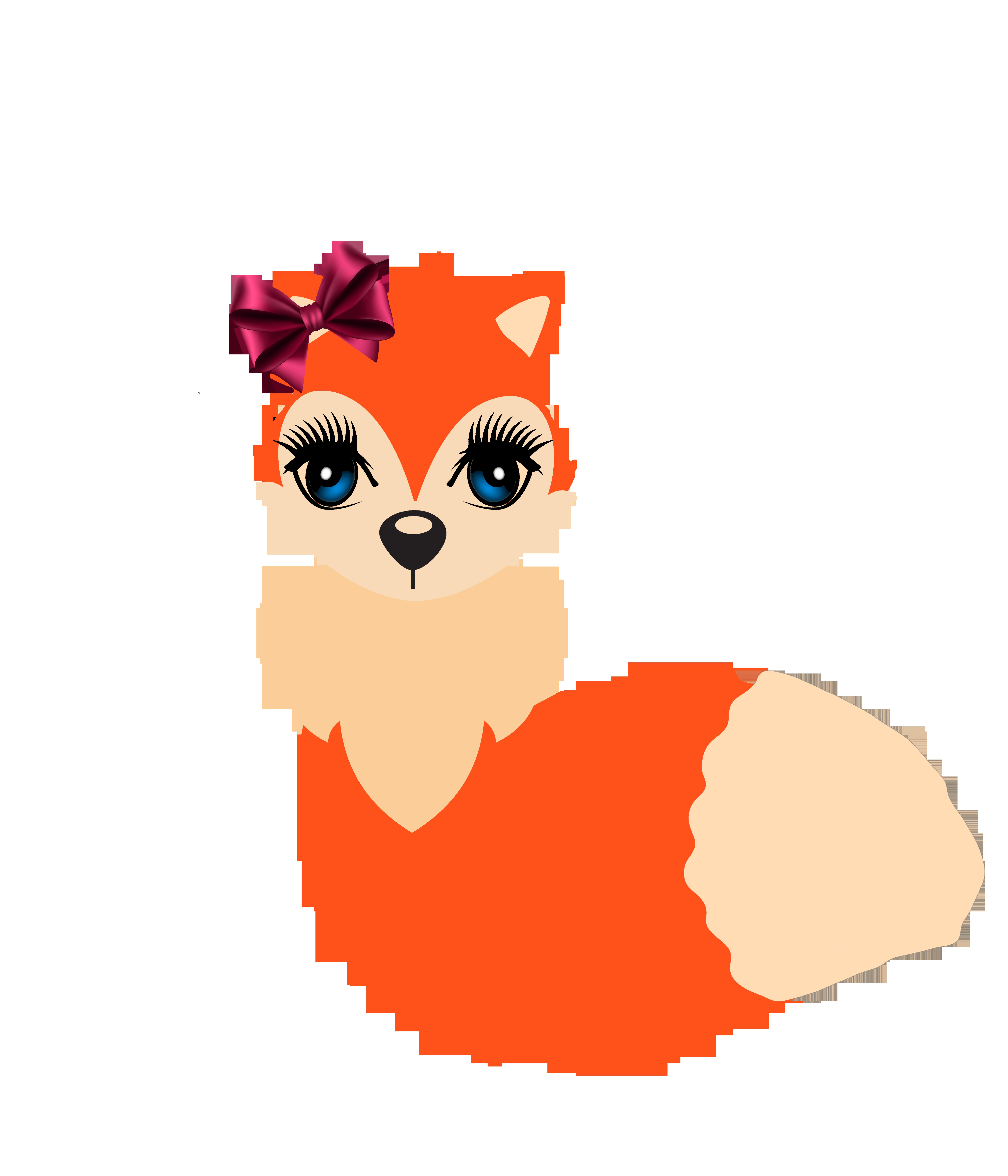 Planner clipart digital. Cute fox clip art