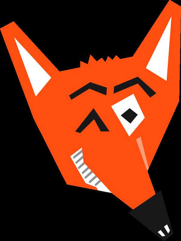 Fox clipart vector. Face clip art photo