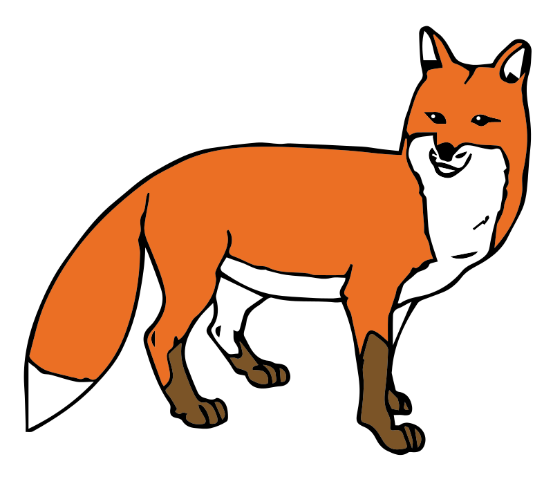 Fox clipart vector. Free to use public