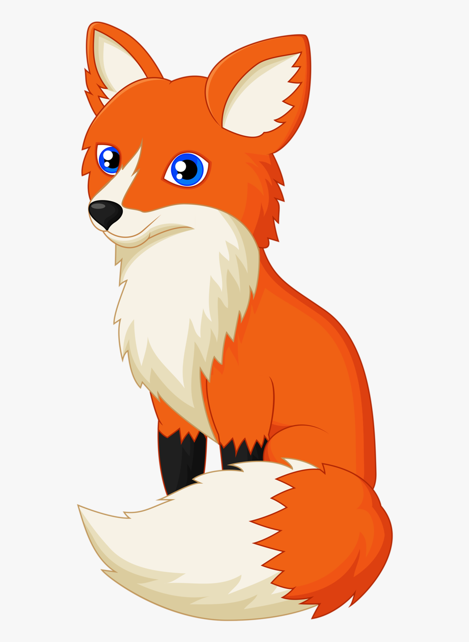 Fox clipart. Drawing red clip art