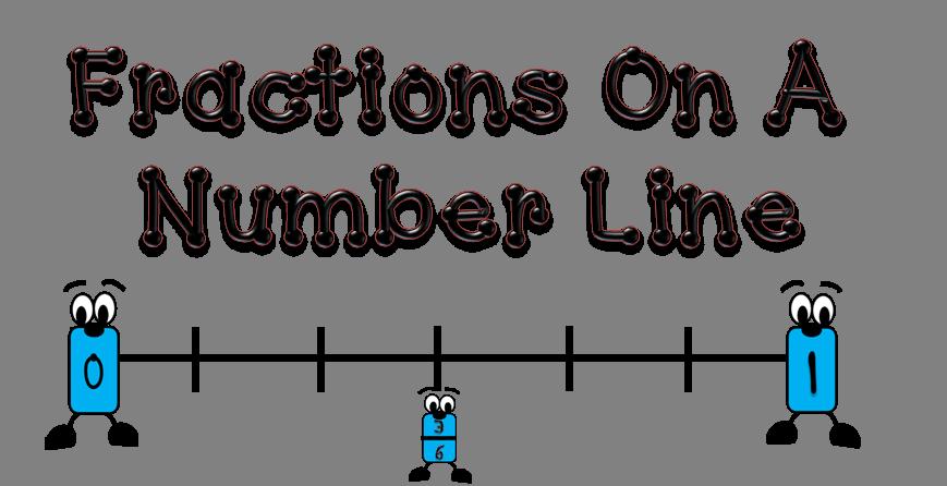 On a number line. Fractions clipart fraction bar