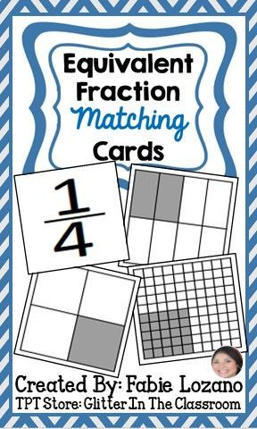 Equivalent matching cards rd. Fraction clipart 5th grade math