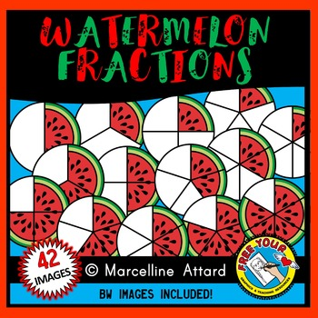 Fractions clipart 5th grade math. Watermelon summer food geometry