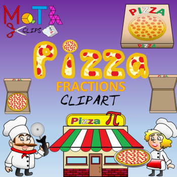Ultimate pizza fractions clip. Fraction clipart animated