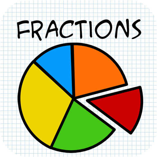 Yellow circle fraction . Fractions clipart cartoon