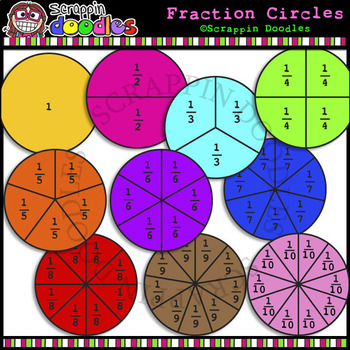 Circles worksheets teaching resources. Fraction clipart circle