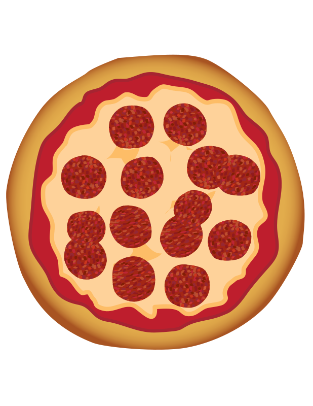 Pizza free pepperoni toons. Fractions clipart clip art