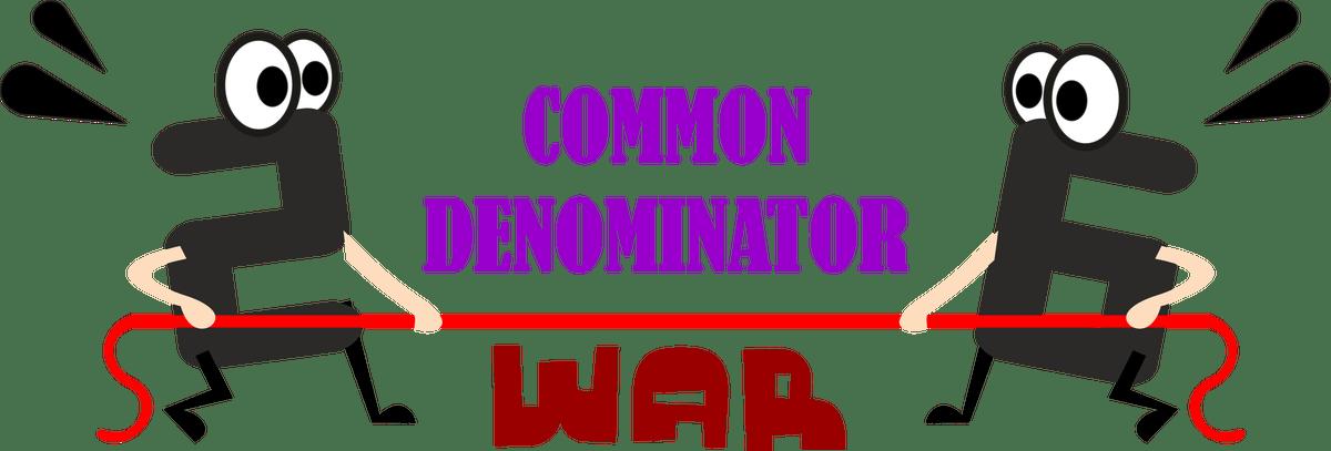 Denominator war modifications adaptations. Fraction clipart common