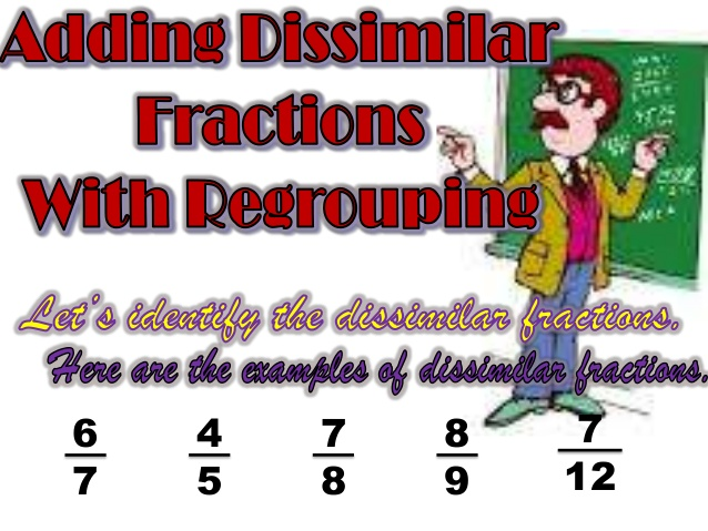 Fraction clipart dissimilar. Adding fractions with regrouping