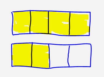 Fractions clipart drawing. Yellow background fraction blue