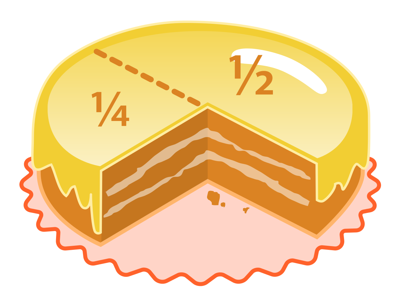 fractions huge freebie. Fraction clipart eighth