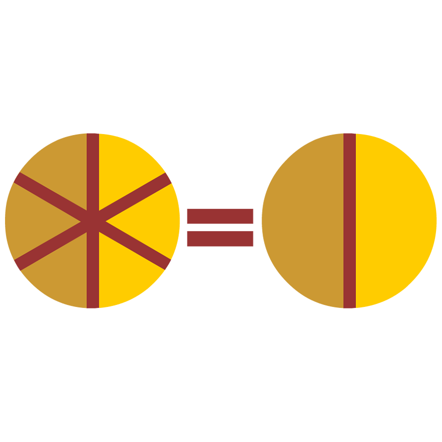 fraction clipart food