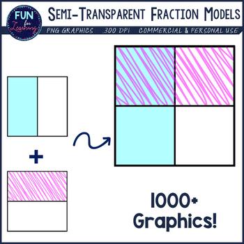 Fraction clipart fraction model. Models