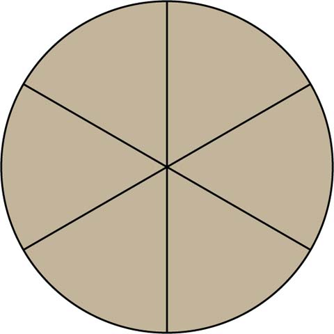 Math clip art circular. Fraction clipart fraction model