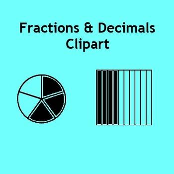 Fraction clipart fraction model. Fractions decimals clip art