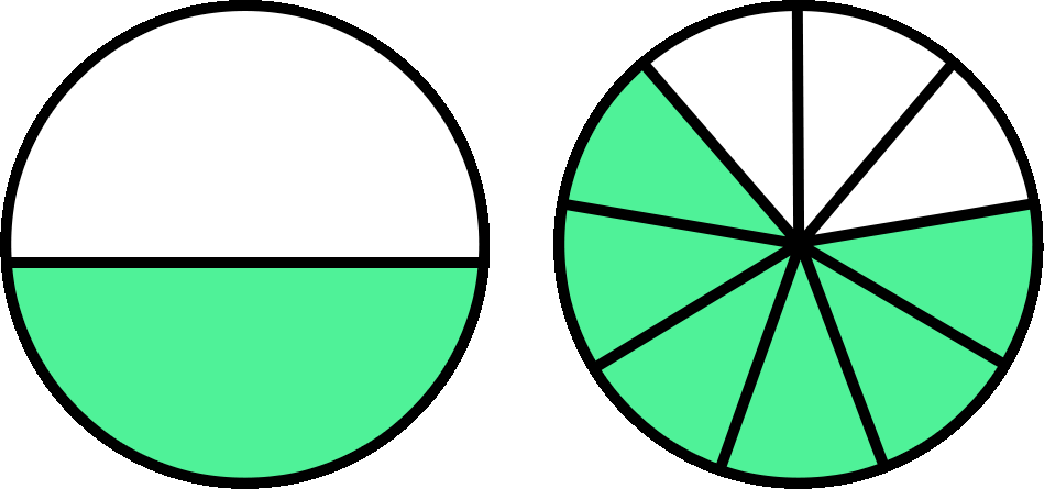 Fractions clipart two.  collection of comparing