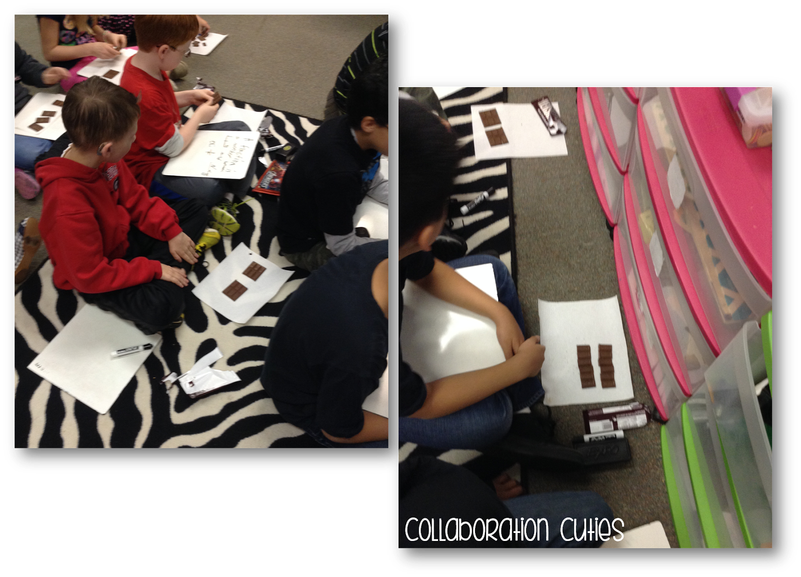 Fraction clipart fraction strip. Collaboration cuties decomposing fractions