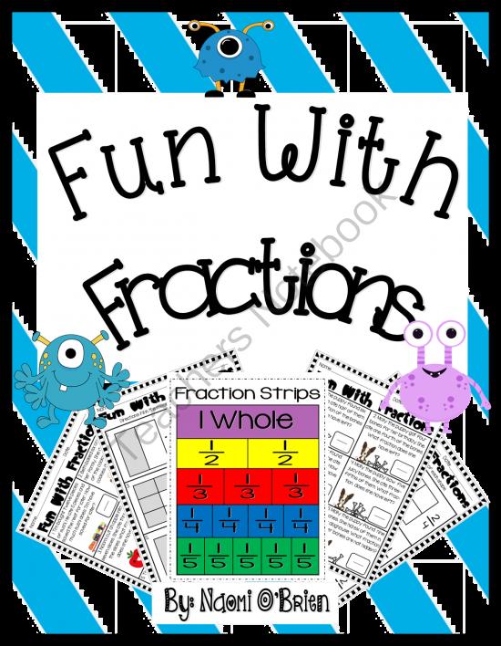 For nd grade pinterest. Fractions clipart fun fraction