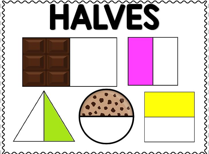 Fractions clipart half. One fraction fun png