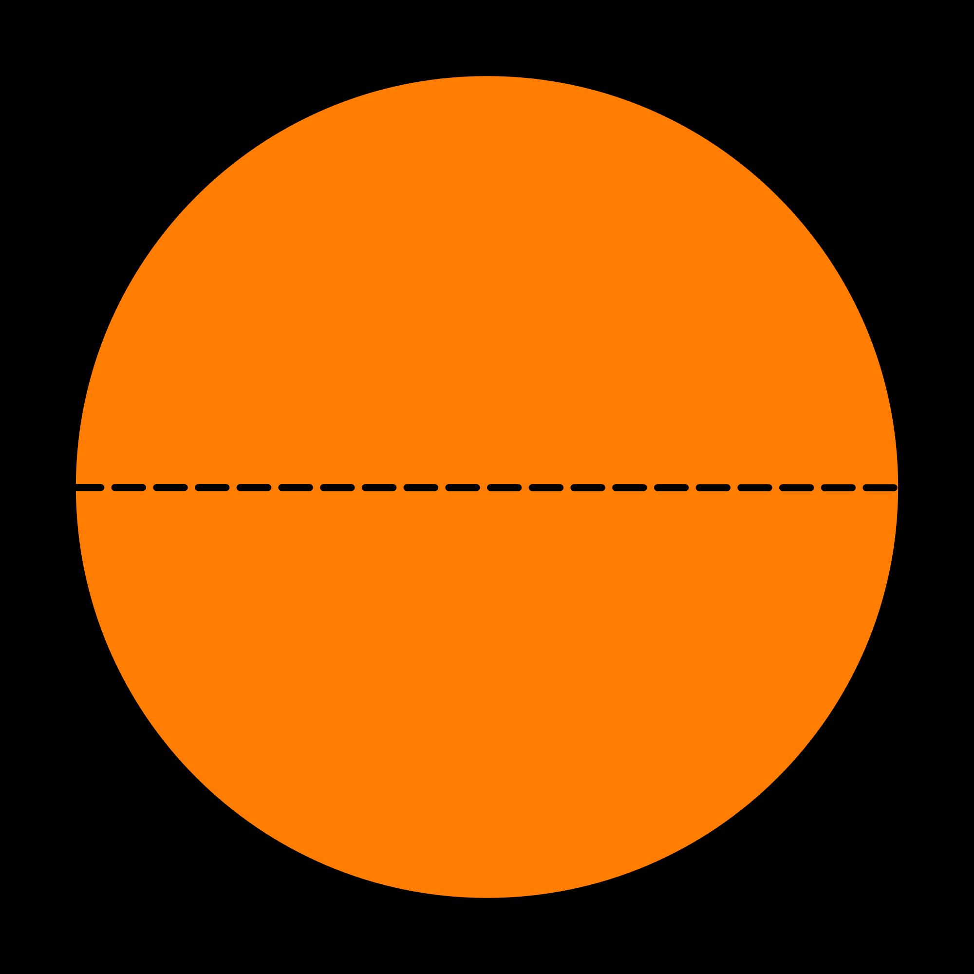 Fractions clipart half. File piechartfractionhalves svg wikimedia