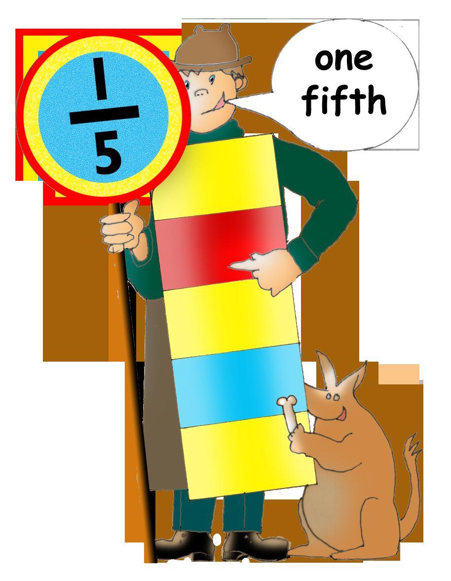 Fraction clipart illustration. Sneak peek maths graphics