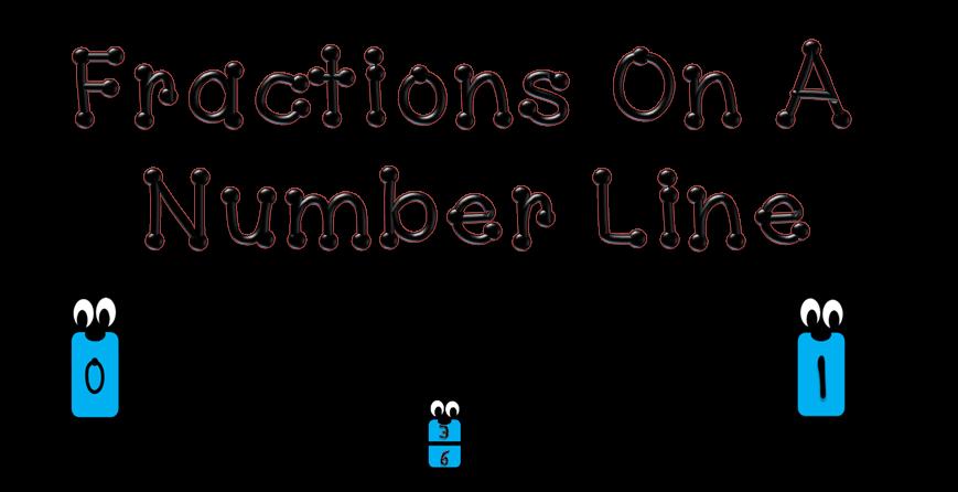 Number line . Fraction clipart illustration