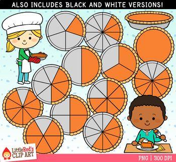 Pumpkin pie fractions clip. Fraction clipart kid