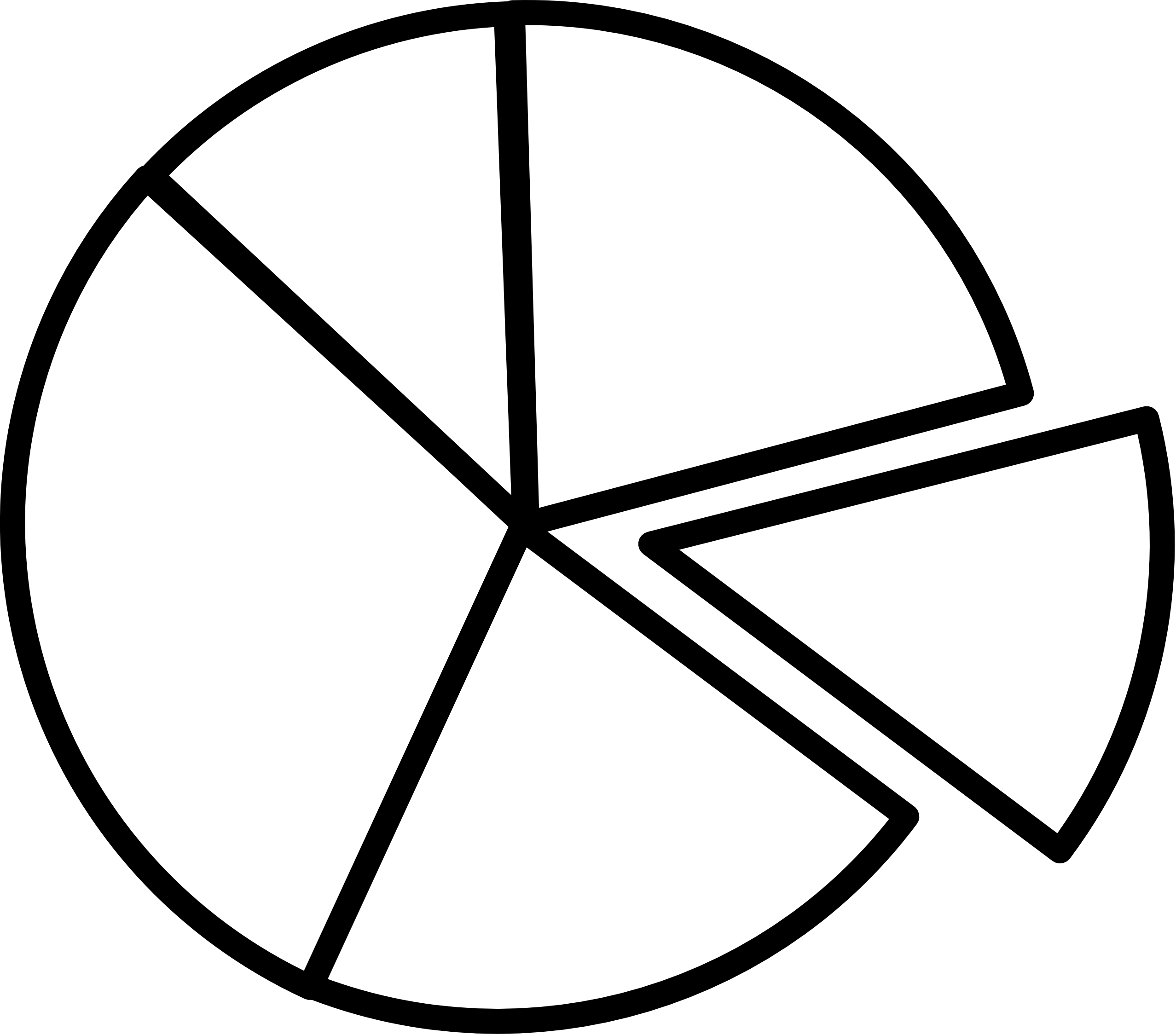 collection of black. Fraction clipart pie chart
