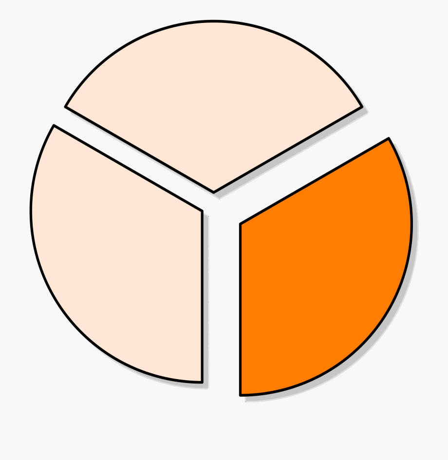 Fraction clipart pie chart. File one third free