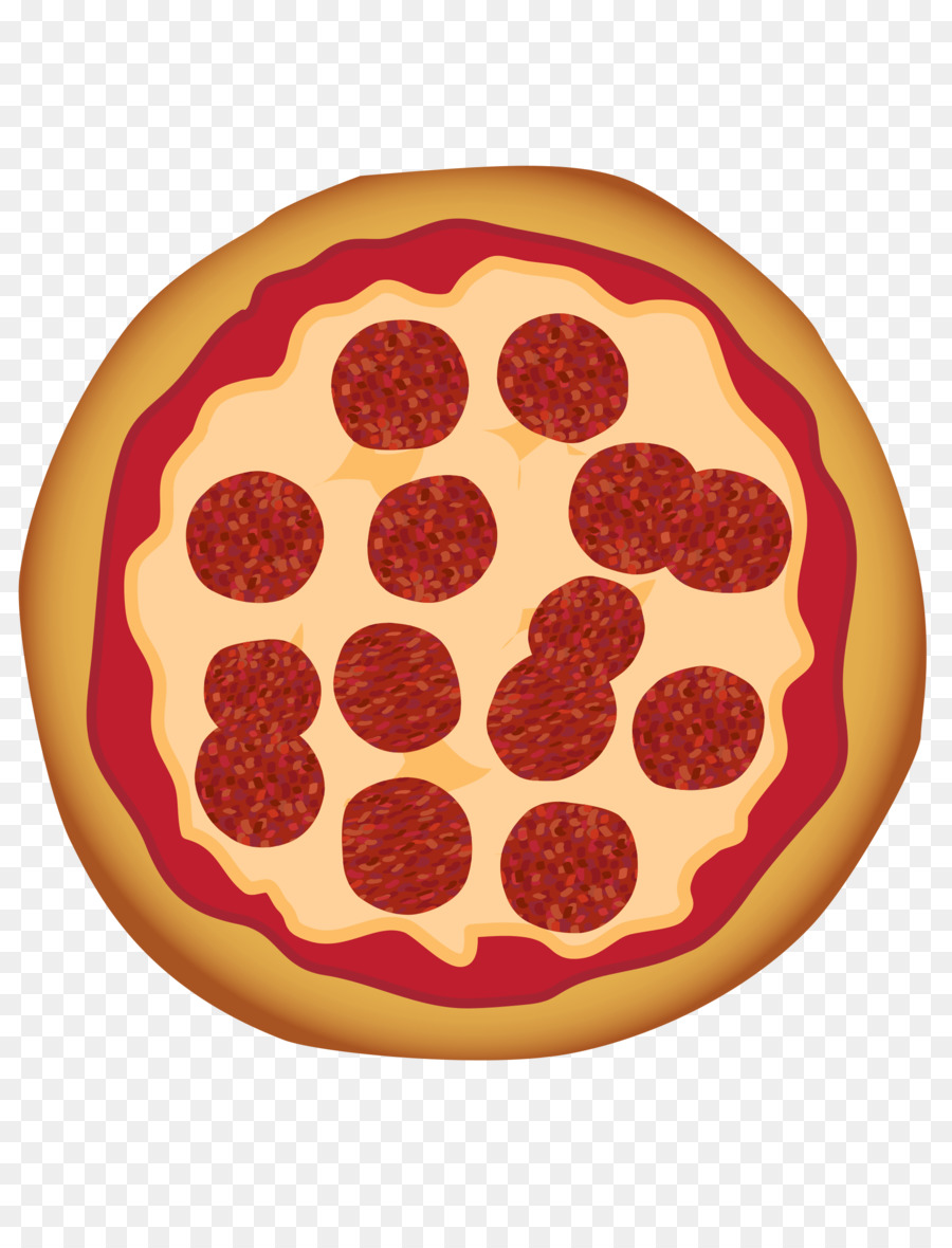 Pepperoni orange . Fraction clipart pizza