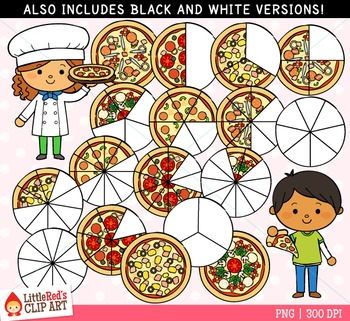 Fraction clipart pizza. Fractions