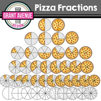 Fractions . Fraction clipart pizza